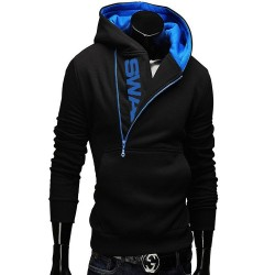 Batch low price hot promotion LOGO head side zipper jacket and colorful hooded sweater men sweater