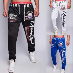 Autumn and winter low price discount new style men's European market and the US market popular printed trousers fitness pants