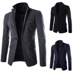 Autumn and winter low price discount new style casual men's wool suit jacket Nepal