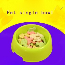 Color dog bowls dog tableware small dog bowl cat feeder bowl cat bowl special price discounts single green bowl