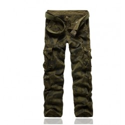 Fast delivery fashion army style camouflage overalls men outdoor leisure pants with multi-port fast sales
