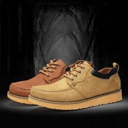 Fast delivery Men's leather shoes first layer of leather work shoes men's casual shoes Material