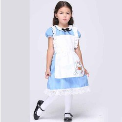 Kids Childrens Performing clothing cosplay clothing girls fashion promotional children maid maid outfit