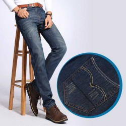 Fall Winter new style mens retro casual mens denim trousers Slim pants loose Promotions