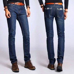 Hot Promotion Mens jeans new style casual loose autumn and winter thick section cultivating cotton mens jeans
