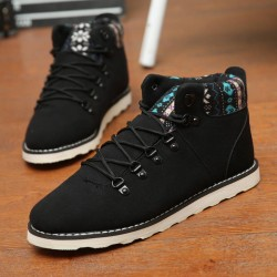 Fast shipping winter new style men's shoes matte leather high-top shoes, men's fashion student shoes