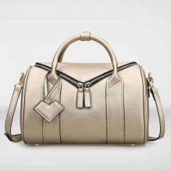 European market and the US market fashion ladies leather bag hand shoulder bag pillow inclined shoulder bag double zipper bag ladies fast delivery