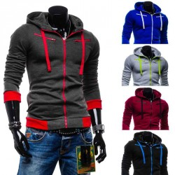 Autumn and winter new models in Europe and the US market style mens wool hooded cardigan sweater coat fast delivery