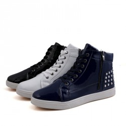 Winter fashion men's shoes Martin boots ultra low-cost high-top casual men's shoes British style shoes student