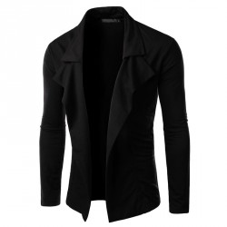 Low price men's fashion personality jacket design without buttons