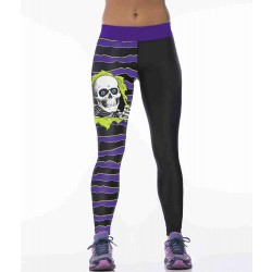 Europe and the United States market hot selling super elastic skeleton resurrection digital prints sports jogging pants yoga pants dance fast delivery