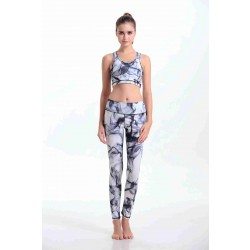 Hot sales of digital ink mist pattern Seiko printing quality yoga clothes indoor sports jacket pants suit