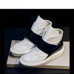 Promotional discount new style leather shoes ladies casual luxury white shoes thick heel loafers