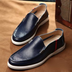 Fast delivery leather first layer of leather material simple and comfortable men's business shoes, men's shoes to help low permeability