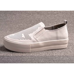Fall brand new style casual ladies' shoes leather white shoes hollow casual shoes discount shoes Ms.