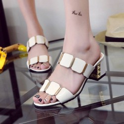 Summer new style fashion sandals thick with open-toed sandals large size ladies shoes all matching slippers