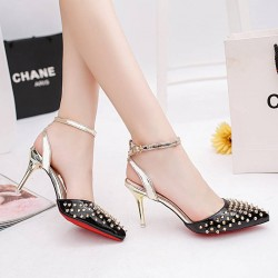Europe station new style rivets anti-wolf head Miss Gao Gen Ms. toe sandals sexy nightclub ladies sandals discounts