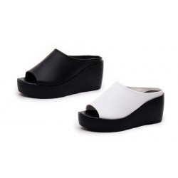 Ladies slope with cool slippers sandals thick bottom slippers
