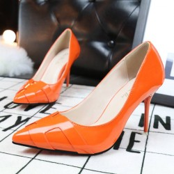 6089-2 fashion slim high heels ladies shoes fine with high-heeled pointed solid color leather H bare feet sole shoes