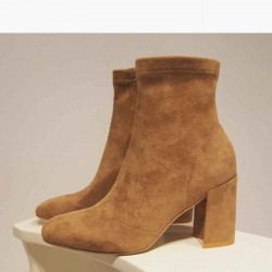 Popular ladies' shoes autumn and winter fashion leather Ms. boots Martin boots thick with high-heeled boots to help low all matches