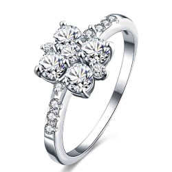 Europe and the US market selling gold flower shape zirconium Miss Shi Rings