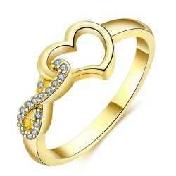 Europe and the US market selling gold heart-shaped diamond ring