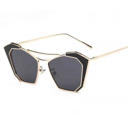 0778 European market and the US market catwalk sunglasses Ms. Bright personality influx of people sunglasses fashion glasses concave shape