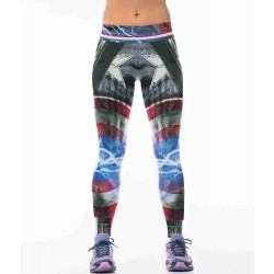 Captain America hot selling digital printing outdoor jogging pants training pants Europe and the United States womens discount market
