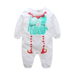 Baby boys Cartoon Christmas striped long-sleeved pants jumpsuit jumpsuit fast delivery low price children's clothing