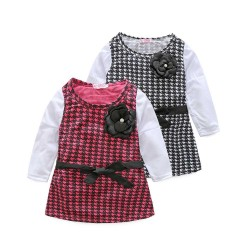 Children's clothing female baby plaid skirt girls dress hot sell hot spring sales of new models