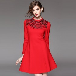 Autumn and winter popular new models in Europe and the US market, international brands of high-end women's dress fast delivery