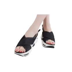 Leisure waterproof platform thick sandals female summer