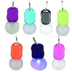 Mini White LED Zipper Pull Light for Outdoors