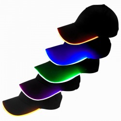 Illuminated Lights Stage Performance Multicolor LED Fiber Hat