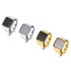 7MM Titanium Gold Plated Ring Mens Rings