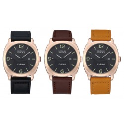 Waterproof Leather Belt Business Casual Watch For Mens Dress Watch