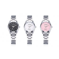 Fashion Quartz Steel Material Alloy Waterproof Business Casual Watchc