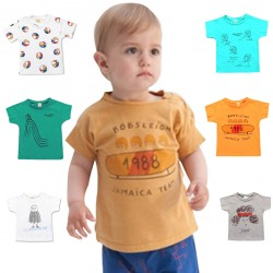 6 colors Baby Boy Cute T-shirts Tops Outfits Clothes
