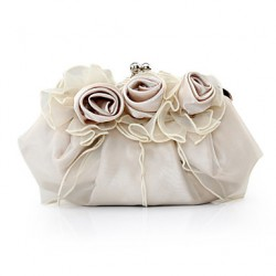 Handbags/ Clutches In Gorgeous Satin/ Tulle Shell More Colors Available