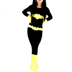 Black And Yellow Women Lycra Zentai Inspired By Batman
