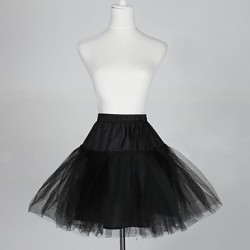 Nylon A-Line Half 5 Tier Short-Length Slip Style/Wedding Petticoats