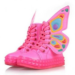 Children & #039;S Shoes Round Toe Flat Heel Mid-Calf Boots With Zipper And Lace-Up