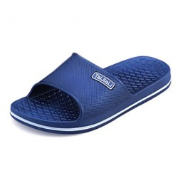Men & #039;S Shoes Casual PVC Slippers Black/Blue/Gray