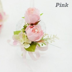 Double Rose Silk Wedding Boutonniere (More Colors)