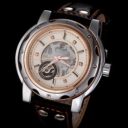 Men & #039;S Automatic Mechanical Elegant Dial Leather Band Wrist Watch (Assorted Colors)