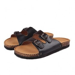 Men & #039;S Shoes Casual Leatherette Sandals Black/White