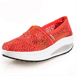 Women & #039;S Shoes Lace Wedge Heel Platform/Crib Shoes Fashion Sneakers Outdoor/Blue/Yellow/Green/Red/Gray/Beige