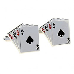 Jewelry Brass Material, Four A Poker Cufflinks