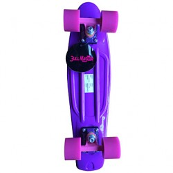 Classic Plastic Skateboard (22 Inch) Cruiser Board Purple With Pink Wheels