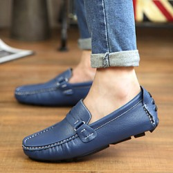 Men & #039;S Shoes Office & Career/Party & Evening/Casual Leather Loafers Black/Blue/Brown/White